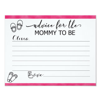 Custom Advice Cards for Mom to Be at Baby Shower