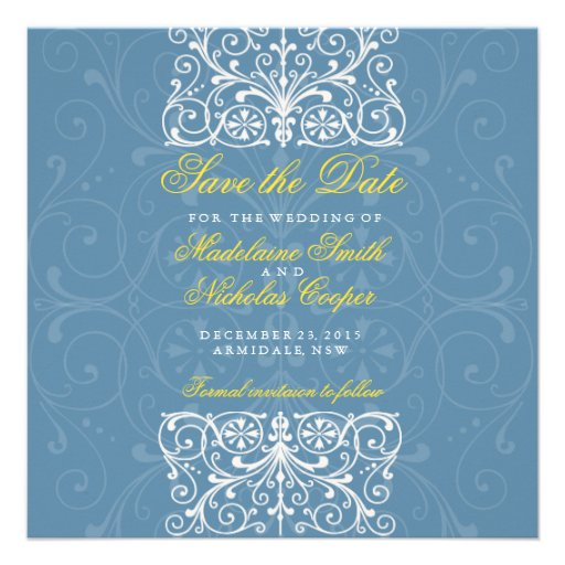 Custom air force and white vintage save the date custom invitation