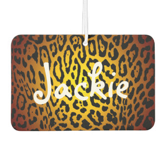 Custom Air Freshener - Leopard Gold