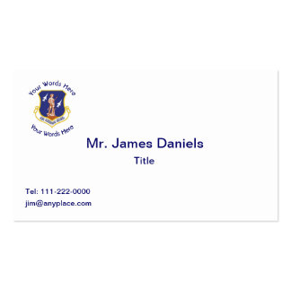 Custom Air National Guard Shield Pack Of Standard Business Cards