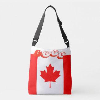 Custom All-Over-Print Cross Body Bag-LOVE CANADA Crossbody Bag