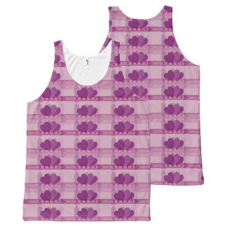 Custom All-Over Print Tank Top with Hearts