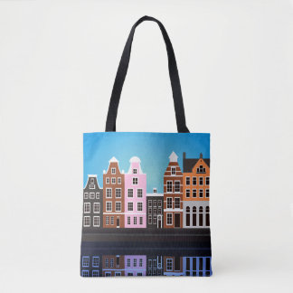 Custom All-Over-Print Tote Bag Amsterdam