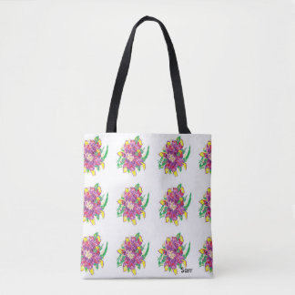 Custom All-Over-Print Tote Bag/ Asiatic Lily