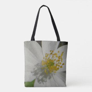 Custom All-over-print Tote Bag cute white flower