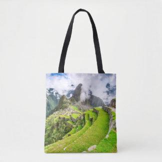 Custom All-Over-Print Tote Bag Machu Picchu, Cusco