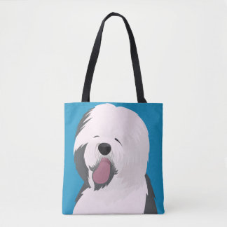 Custom All-Over-Print Tote Bag Old English dog