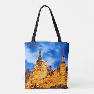 Custom All-Over-Print Tote Bag Peles castle Sinaia