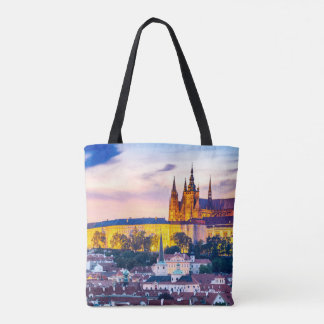 Custom All-Over-Print Tote Bag Prague