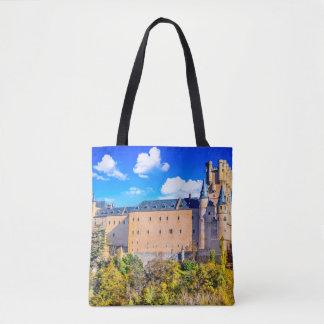 Custom All-Over-Print Tote Bag Segovia castle