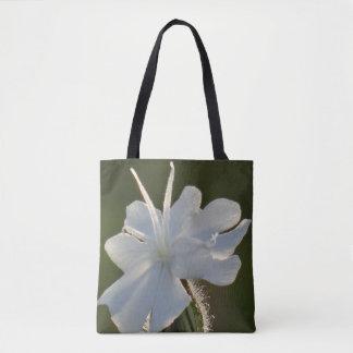Custom All-over-print Tote Bag white flower