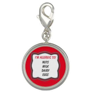 Custom Allergy Alert Bracelet Charm
