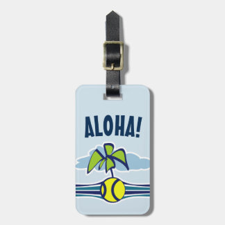 Custom Aloha tennis travel luggage tag for suicase