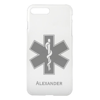 Custom Ambulance Black and White Star of Life iPhone 8 Plus/7 Plus Case