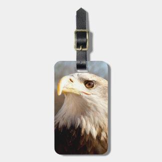 Custom American Bald Eagle Profile Tags For Bags