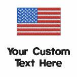 Custom American Flag Embroidered Golf Shirt Polo Shirts