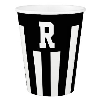 Custom American Football Referee Stripe paper cup
