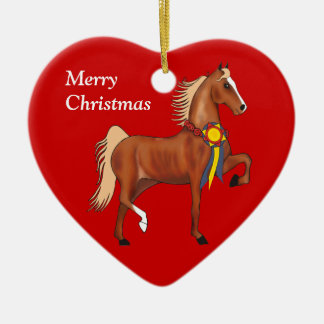 Custom American Saddlebred Christmas Ornament