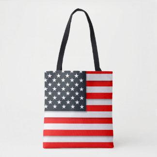 Custom American USA Flag Patriotic July 4th Tote Bag