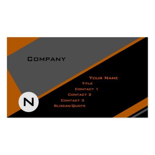 Custom Angle 3 Business Card Template
