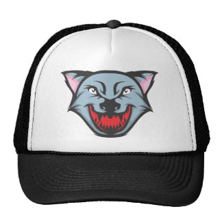 Custom Angry Wolf Cartoon Hats