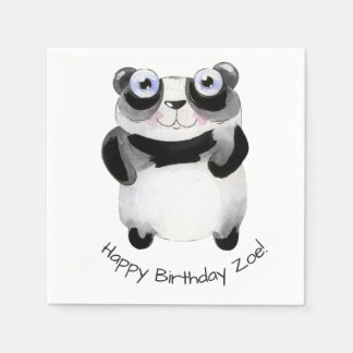 custom animal themed birthday paper napkin