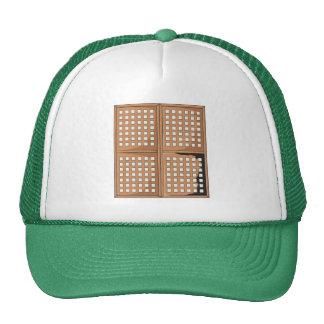 Custom Antique Capiz Shell Window Panels Buttons Hat