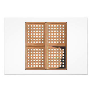 Custom Antique Capiz Shell Window Panels Cards Pin Photographic Print