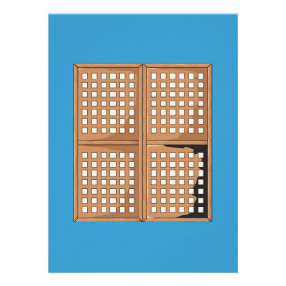 Custom Antique Capiz Shell Window Panels Invites