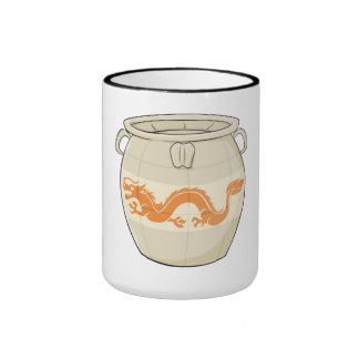 Custom Antique Oriental Chinese Vase Jar Buttons Coffee Mugs