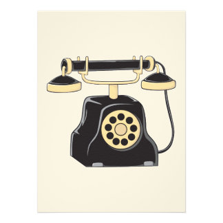 Custom Antique Rotary Dial Telephone Collector Personalized Invite