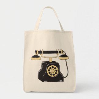 Custom Antique Rotary Dial Telephone Collector Mug Canvas Bags