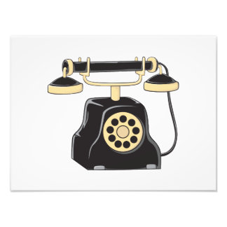 Custom Antique Rotary Dial Telephone Collector Photo Print