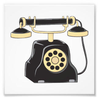 Custom Antique Rotary Dial Telephone Collector Photograph
