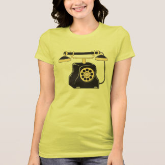 Custom Antique Rotary Dial Telephone Collector Tee