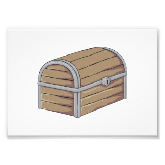 Custom Antique Wooden Pirate Treasure Chest Cards Photo Print