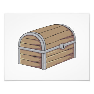 Custom Antique Wooden Pirate Treasure Chest Cards Photograph