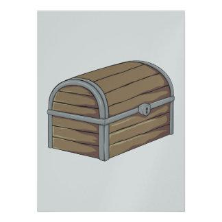 Custom Antique Wooden Pirate Treasure Chest Announcements