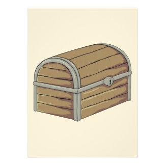 Custom Antique Wooden Pirate Treasure Chest Custom Invitations
