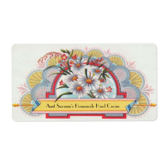 Custom Art Deco Floral Label Shipping Label