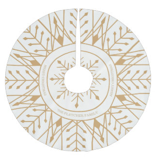 Custom Art Deco Snowflake Holiday Tree Skirt