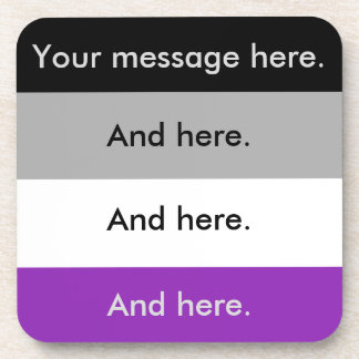 Custom Asexual Pride Flag Coasters