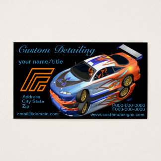 Custom Auto Detailing Business Cards