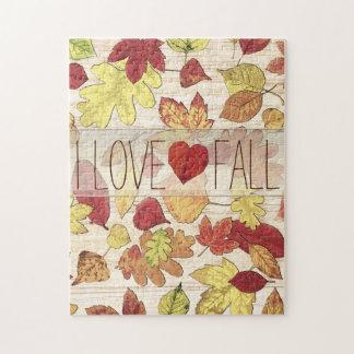 Custom Autumn Leaves Thanksgiving Puzzle