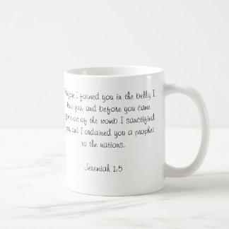 Custom Baby Bible Verse Photo Mug-Jeremiah 1:5 Basic White Mug