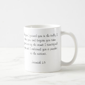 Custom Baby Bible Verse Photo Mug-Jeremiah 1:5 Coffee Mug