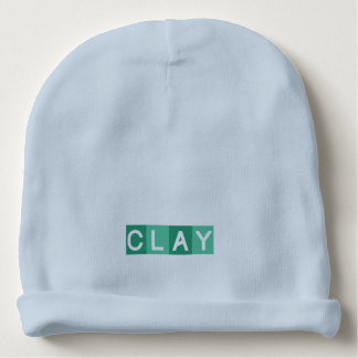 Custom Baby Cotton Beanie - CLAY Baby Beanie