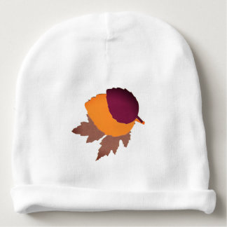 Custom Baby Cotton Beanie with Leaves Baby Beanie