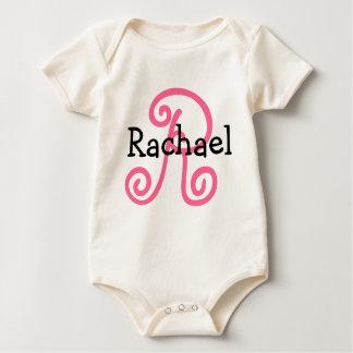 Custom Baby Name with Big Initial Baby Bodysuit