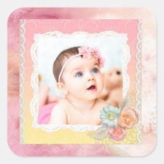 Custom Baby or Family Photo Stickers